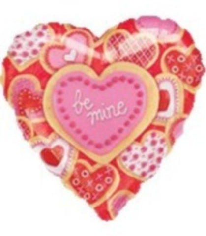 "18'' Heart ""Be mine"" Foil Balloon"