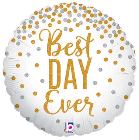 18'' Best Day Ever glitter foil balloon