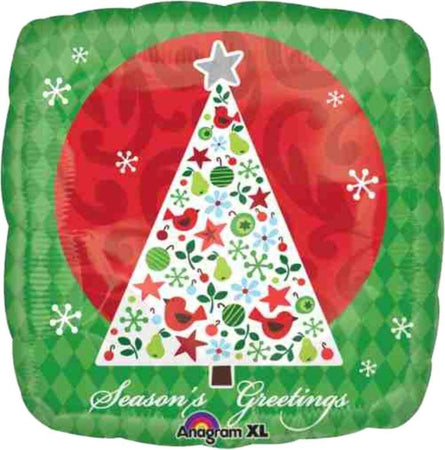 Christmas square foil balloon Christmas Tree