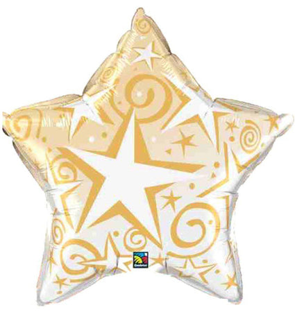 36'' Gold Star BLAST Foil balloon