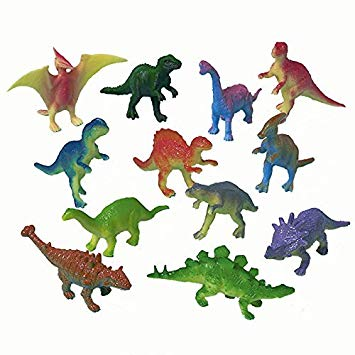 Favor Set plastic Dinosaurs (12 pcs)