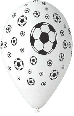 12'' Printed Soccer Balls Latex Balloon (25 pcs)