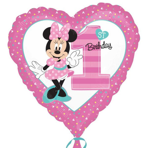 18'' Minnie Mouse Disney 1st Birthday Foil Balloon