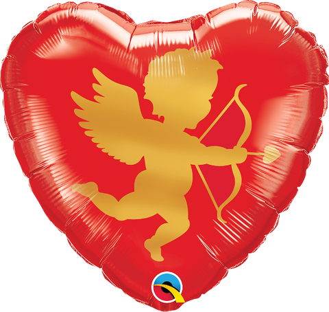 "18"" Heart Cupid Foil Balloon"