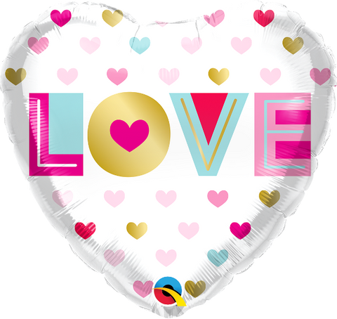 "18''Metallic Heart ""Love you"" Foil Balloon"