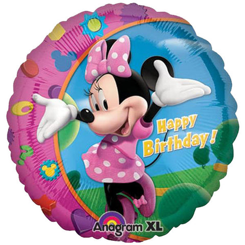 18'' Minnie Mouse Disney Happy Bday Foil Balloon