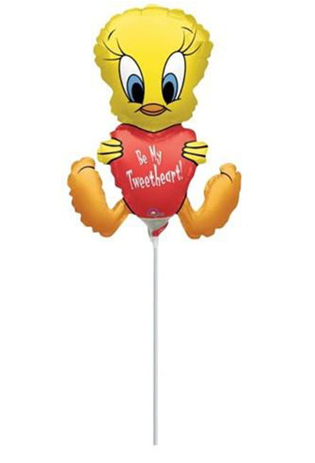 9'' Mini Shape Tweety with heart Foil Balloon
