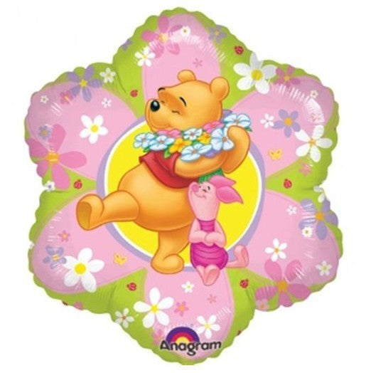 Junior Shape Winnie the pooh Flower Foil Balloon