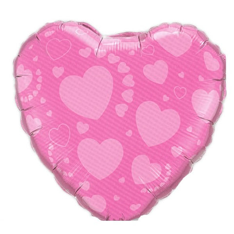 18'' Pink Heart Foil Balloon