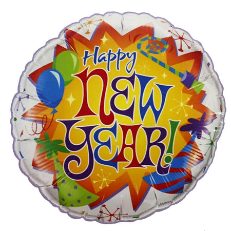 18'' Happy New Year foil balloon