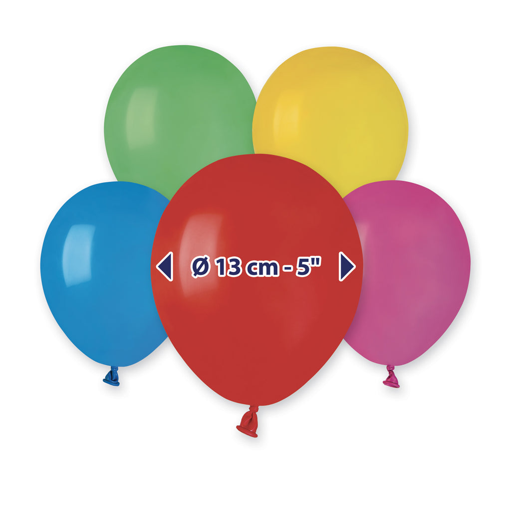 5'' Assorted Colors Latex Balloon (100 pcs)