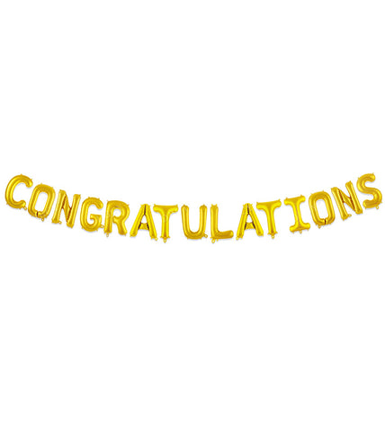16'' 'Congratulations' Gold Foil Balloon (15 pcs)