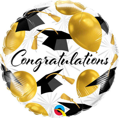 "18"" Congratulations gold Foil Balloon"