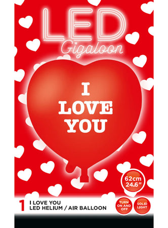 Big Red Heart LED Balloon (1 piece)