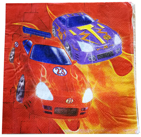 Napkins with Cars - Rally (16 pcs)