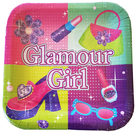 Square Plate Glamour Girl (8 pcs)