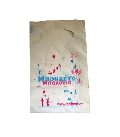 Plastic small White Bag with logo
