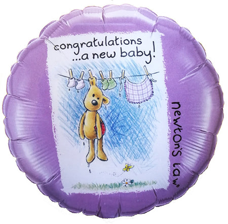 18'' Congratulations a New Baby with Teddy Bear Foil Balloon