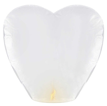 Sky lantern heart shaped