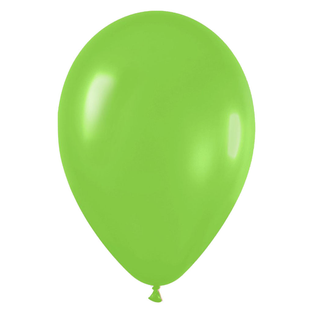 9'' Fashion Solid Lime Green Latex Balloon (100 pcs)