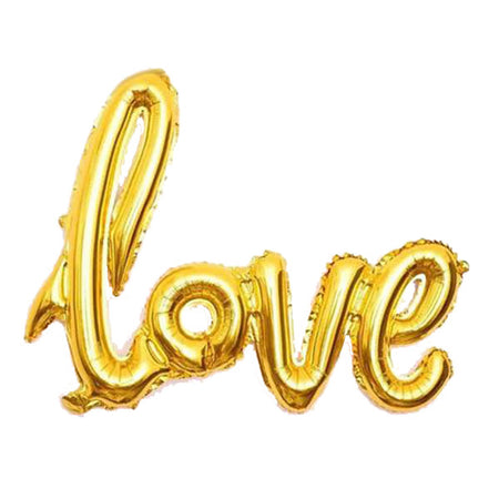 "27"" Love Gold Connected Phrase Foil Balloon"