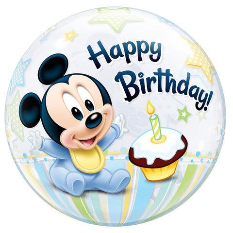 22'' Mickey Mouse 1st Birthday single Bubble balloon
