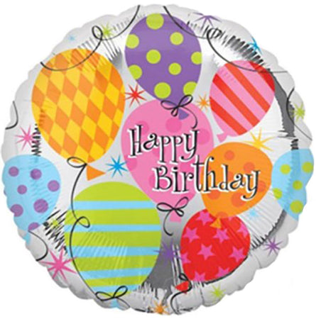 32'' Printed Balloons 'Happy Birthday' Foil Balloon