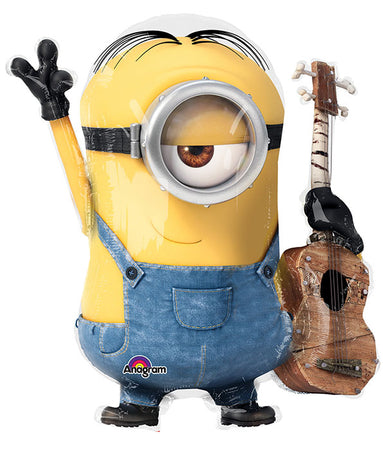 "28"" Minion with guitar Foil Balloon"