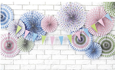 Decorating Rosette pastel blue (3 pcs)