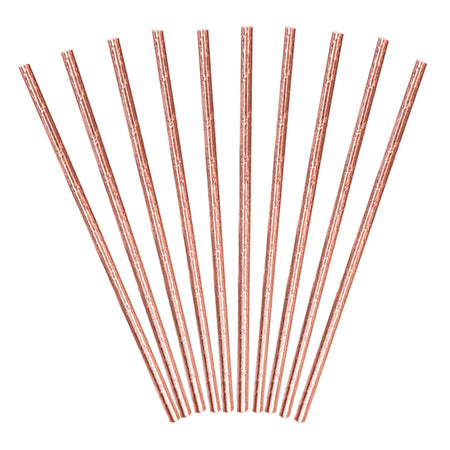 Rose Gold Paper Straws (10 pcs)