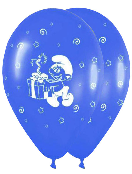 12'' Printed Smurfs Latex Balloon (25 pcs)