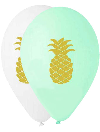 13'' Printed gold Pineapple Latex Balloon (25 pcs)
