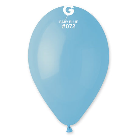 9'' Baby Blue Latex Balloon (100 pcs)