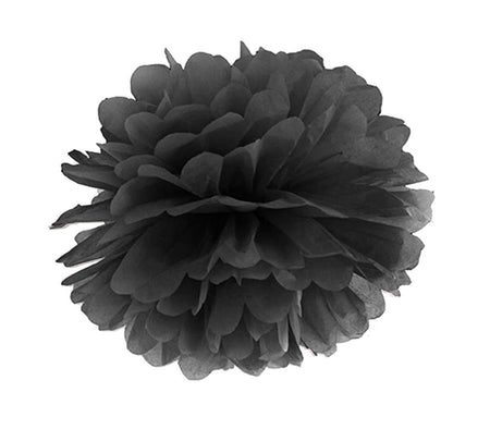 Decorating black Pom - Pom Flower
