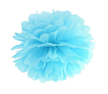 Decorating sky blue Pom - Pom flower