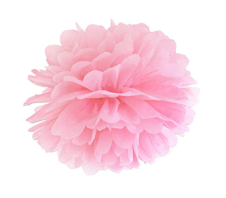 Decorating light pink Pom - Pom flower