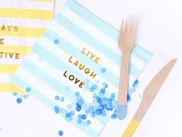 Light Blue with stripes Napkins (20 pcs)