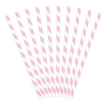 Light- pink Paper Straws (10 pcs)