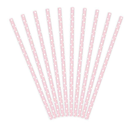 Light Pink Paper Straws (10 pcs)
