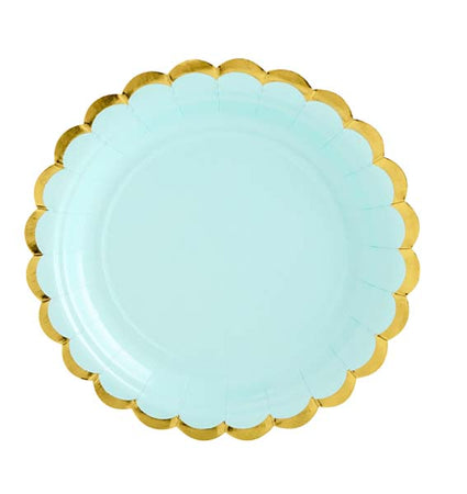 Mint with gold Plates (6 pcs)