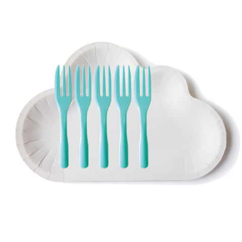Set Cloud Plate with forks in mind color (10 pcs)