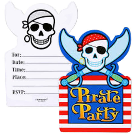 Invitations with Pirates  (6  pcs)