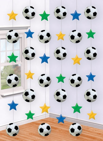 Decoration curtain Soccer Balls and Stars
