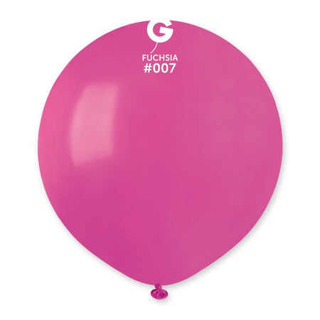 19'' Fuchsia Latex Balloon (50 pieces)
