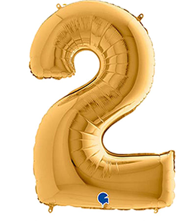40'' Gold Number '2' Foil Balloon