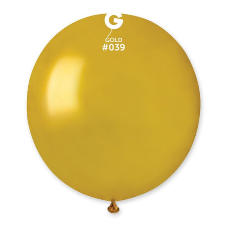 "19"" Gold latex balloon (50 pcs)"
