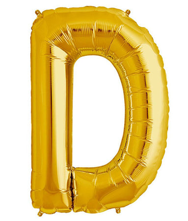 40'' Gold Letter 'D' Foil Balloon