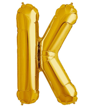 40'' Gold Letter 'K' Foil Balloon