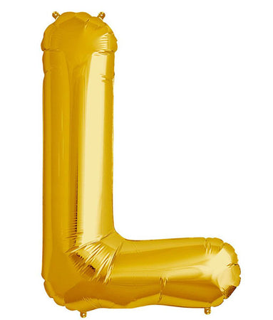 40'' Gold Letter 'L' Foil Balloon