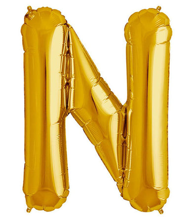 40'' Gold Letter 'N' Foil Balloon